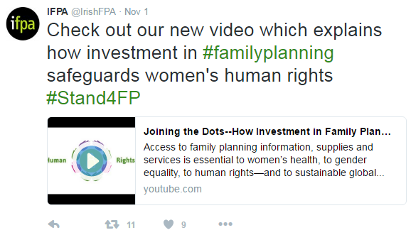 [Image: Joining the dots – using social media and digital advertising to promote investment in family planning]
