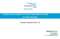 [Image: European Donor Support to Sexual & Reproductive Health and Family Planning: Trends Analysis for 2015-2016]