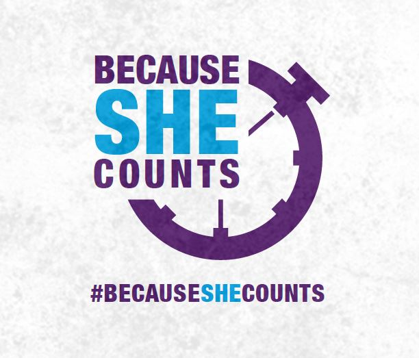 [Image: Because She Counts!]