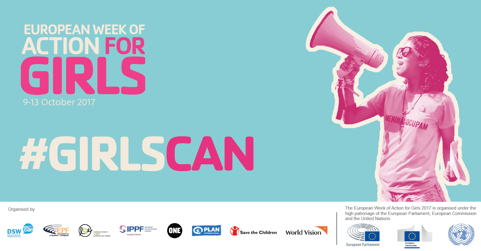 [Image: European Week of Action for Girls: Girls can thrive, inspire, succeed!]
