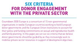 Six Criteria for Donor Engagement with the Private Sector